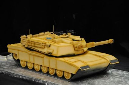Tank Cake - Replica of Abram&#039;s Tank